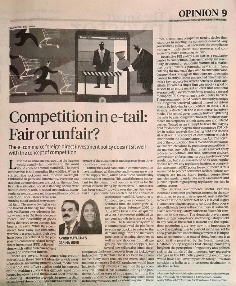 Competition in e-tail: Fair or unfair?
